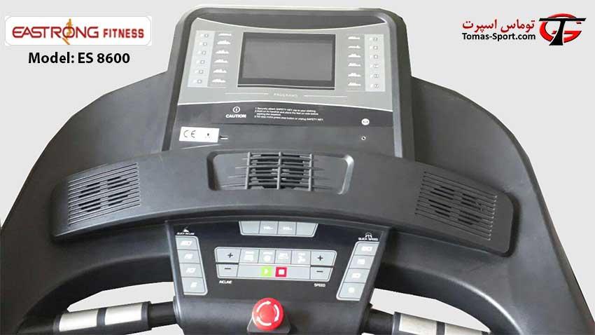 صفحه نمایش تردمیل ES 8600 استرانگ